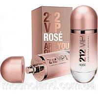 Женская парфюмированная вода Carolina Herrera 212 VIP Rose 80 ml (Каролина Эррера 212 Вип Роуз) , фото 1 Женск