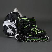 ".Ролики 6006 ""M"" Green - Best Rollers /размер 35-38/ (6) колёса PU, без света, d=7см"