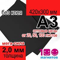 Магнитный винил 2 мм без клеевого покрытия. Продажа в листах А3 формата (420х300 мм)