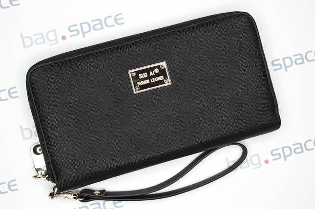 Кошелёк женский SuoAi Fashion Leather, чёрный, фото 2