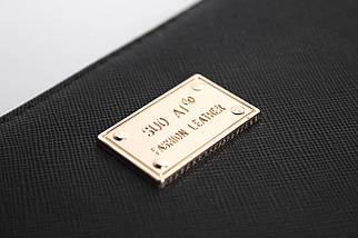 Кошелёк женский SuoAi Fashion Leather, чёрный, фото 3