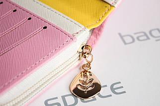 Кошелек женский Cheer Little Bird, розовый (пудровый), фото 3