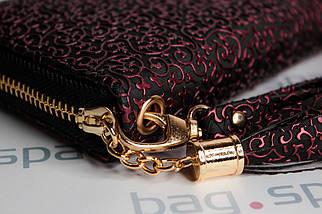 Кошелёк женский Boccoli Alice, чёрный + красный, фото 2