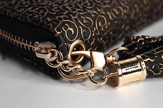 Кошелек женский Boccoli Alice, черный + золото, фото 2