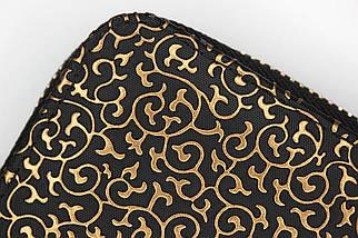 Кошелек женский Boccoli Alice, черный + золото, фото 3