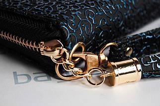 Кошелёк женский Boccoli Alice, чёрный + синий, фото 2