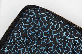 Кошелёк женский Boccoli Alice, чёрный + синий, фото 3