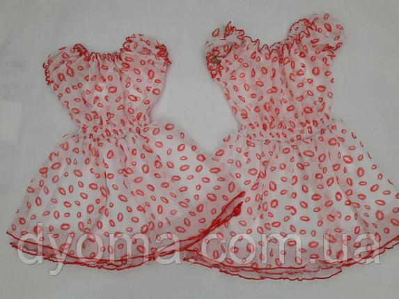 """Детское платье """"Губки"""" для девочек, фото 2"""