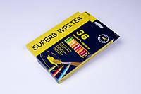 """Акварельні олівці кольорові""""MARCO"""" Superb Writer,№4120-36CB (36 кольорів+пензлик), фото 1"""