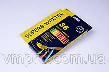 """Акварельні олівці кольорові""""MARCO"""" Superb Writer,№4120-36CB (36 кольорів+пензлик)"""