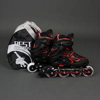 ".Ролики 6006 ""M"" Red - Best Rollers /размер 35-38/ (6) колёса PU, без света, d=7см"