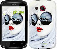 """Чехол на HTC Desire C A320e Девушка акварелью """"2829u-225"""""""