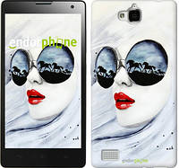 "Чехол на Huawei Honor 3C Девушка акварелью ""2829u-307"""