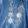 Сережки серебристые ромашка , фото 2