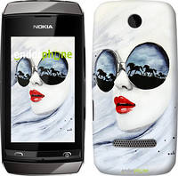 """Чехол на Nokia Asha 305 / 306 Девушка акварелью """"2829u-248"""""""