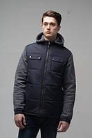 Мужская  куртка с капюшоном  Новая Коллекция  весна 2017года  р-46-56 цвет темно синий