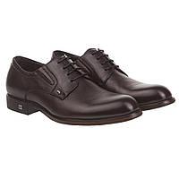 Туфли дерби мужские Cosottinni (темно - коричневые, комфортные, практичные, качественные, удобные)