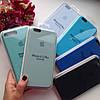 Оригинальный силиконовый голубой чехол для iPhone 6 plus/6s plus, фото 2