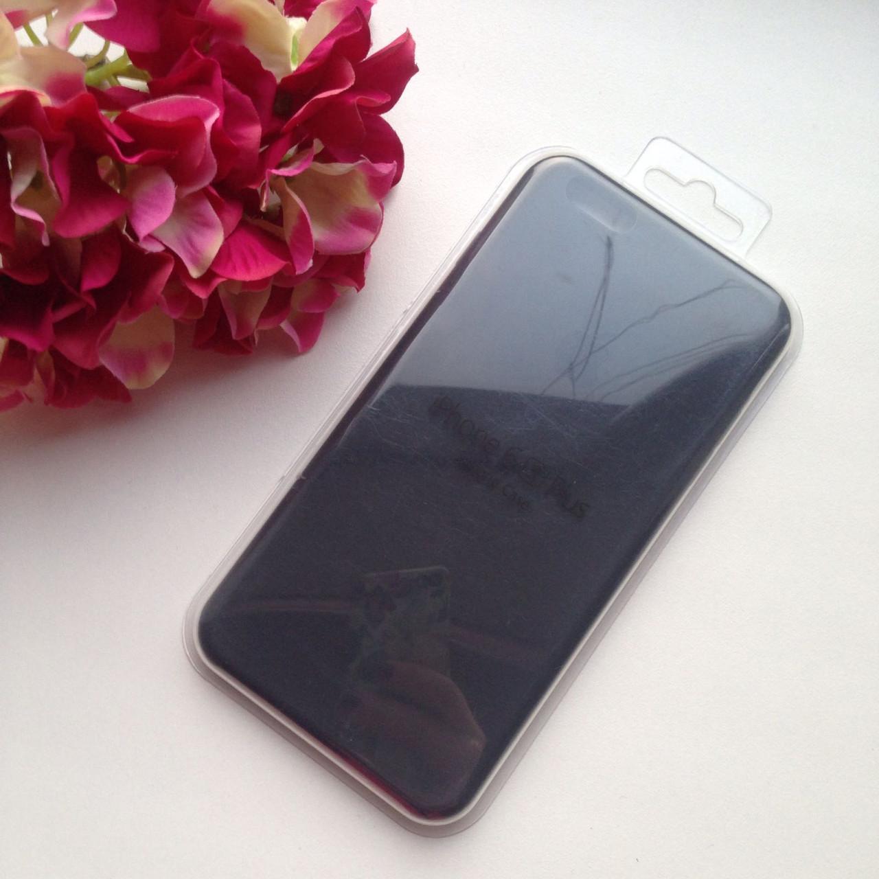 Оригинальный силиконовый чёрный чехол для iPhone 6 plus/6s plus