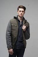 Мужская  куртка с капюшоном  Новая Коллекция  весна 2017года  р-46-56 цвет хаки