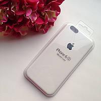 Оригинальный силиконовый белый чехол для iPhone 6/6s