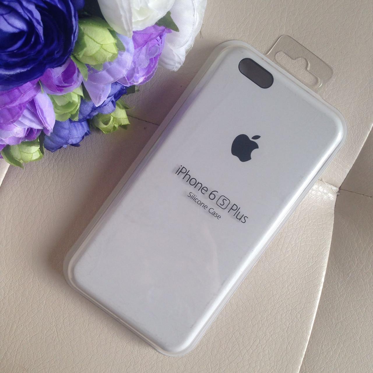 Оригинальный силиконовый белый чехол для iPhone 6 plus/6s plus