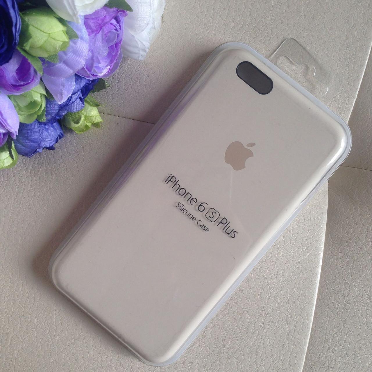 Оригинальный силиконовый молочный чехол для iPhone 6 plus/6s plus