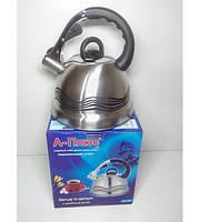 Чайник со свистком А-плюс 3.2л  ( со светящимся индикатором температуры) 1385
