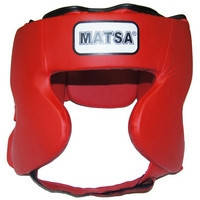 Шлем боксерский в мексиканском стиле кожа MATSA