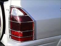 Защита фонарей Mitsubishi Pajero 2003-2007