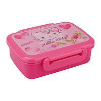 """Контейнер для завтрака (ланчбокс) """"Hello Kitty (Китти)"""" с разделителем, ТМ Kite"""