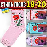Детские носки демисезонные СТИЛЬ ЛЮКС Украина ассорти 18-20р маки НДД-279