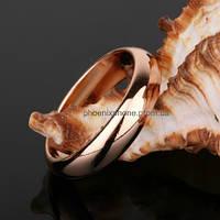 Классическое кольцо, покрытое золотом (11000) 21