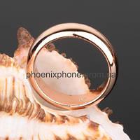 Классическое кольцо, покрытое розовым золотом(11908) 18.5