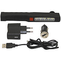 """Фонарь-лампа на магните """"LED Penlight"""" с автомобильным и сетевым зарядными устройствами на 5+1 светодиодов, """"F"""
