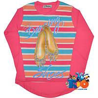 """Батник с ярким принтом """"Darling Shoes"""" , тонкий трикотаж (х/б) , для девочек от 4-8 лет"""