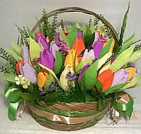 """Композиция букет цветы из конфет """"Вдохновение"""" 55 конфет"""