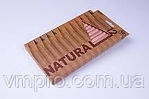 """Олівці кольорові """"MARCO"""" Natural JUMBO,товсті,№6400-12CB (12 кольорів+точилка)"""