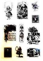 Набор силиконовых штампов Алиса в зазеркалье