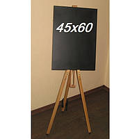 Дошка магнітна для крейди на тринозі 45х60см, фото 1