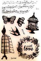 Набор силиконовых штампов Любовные записки