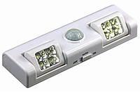 LED светильник с датчиком движения на батарейках (3хАА), фото 1
