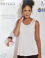 Майка футболка безрукавка женская кружева сток Германия Esmara евро L 44 46