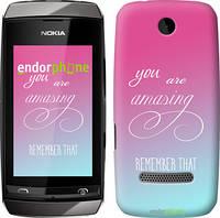 """Чехол на Nokia Asha 305 / 306 Памятка для девушек """"3701u-248"""""""