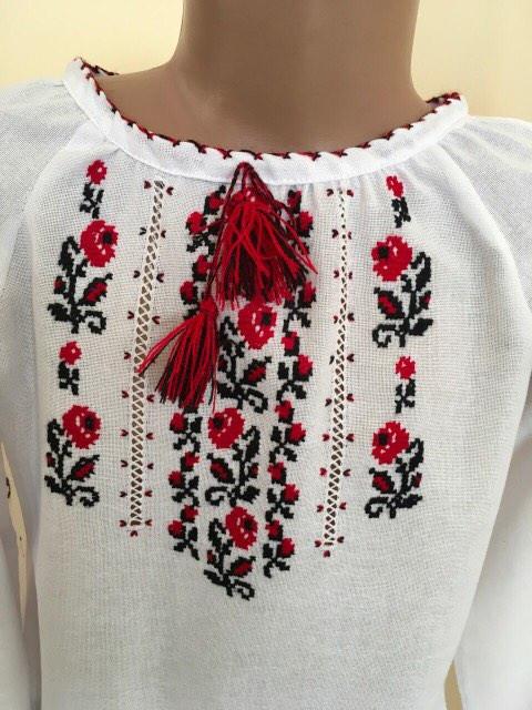 Блуза вишиванка для дівчинки 2-3 рочки - Скарбниця Карпат- інтернет магазин  виробів ручної 8a55dc4d89c54