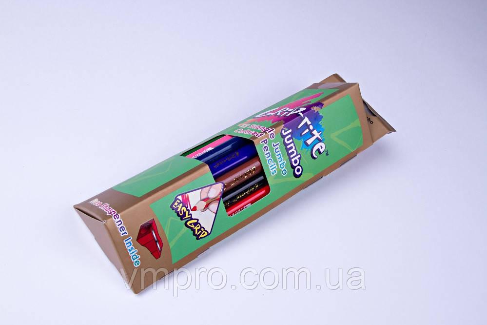 """Карандаши цветные """"MARCO"""" Grip-rite Jambo,№9400-12CB (12 шт+точилка)"""