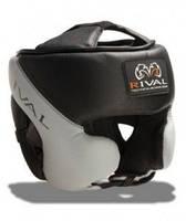 Шлем боксерский в мексиканском стиле Кожа RIVAL  (серый)