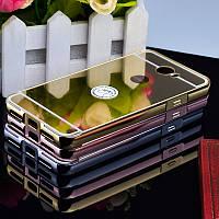 Металлический зеркальный чехол бампер для Huawei Y5 II (Y5 2) (3 цвета в наличии)