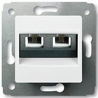 Механизм розетки телефонной RJ11 двойной белый 773639 Legrand Cariva