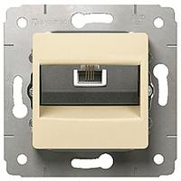 Механизм розетки телефонной RJ11 слоновая кость 773738 Legrand Cariva